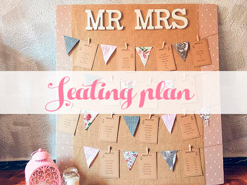 Seating plan personalizado para bodas originales